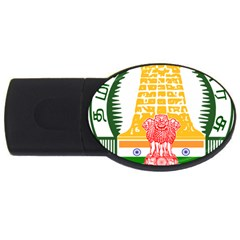 Seal Of Indian State Of Tamil Nadu  Usb Flash Drive Oval (2 Gb)