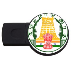 Seal Of Indian State Of Tamil Nadu  Usb Flash Drive Round (4 Gb) by abbeyz71