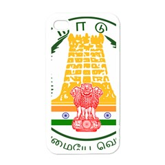 Seal Of Indian State Of Tamil Nadu  Apple Iphone 4 Case (white) by abbeyz71