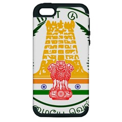 Seal Of Indian State Of Tamil Nadu  Apple Iphone 5 Hardshell Case (pc+silicone) by abbeyz71