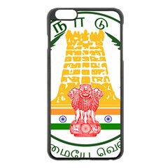 Seal Of Indian State Of Tamil Nadu  Apple Iphone 6 Plus/6s Plus Black Enamel Case