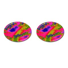 Sky Pattern Cufflinks (oval)