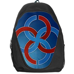 Svadebnik Symbol Slave Patterns Backpack Bag by Nexatart