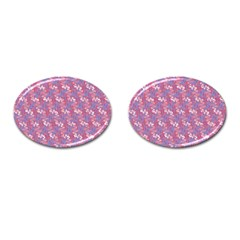 Pattern Abstract Squiggles Gliftex Cufflinks (oval)