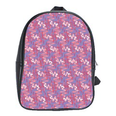 Pattern Abstract Squiggles Gliftex School Bags(large)  by Nexatart