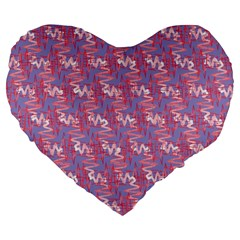 Pattern Abstract Squiggles Gliftex Large 19  Premium Flano Heart Shape Cushions by Nexatart