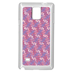 Pattern Abstract Squiggles Gliftex Samsung Galaxy Note 4 Case (white)