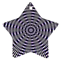 Pattern Stripes Background Star Ornament (two Sides)