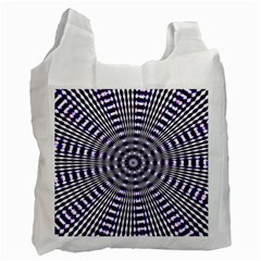 Pattern Stripes Background Recycle Bag (one Side) by Nexatart