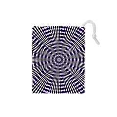 Pattern Stripes Background Drawstring Pouches (small)  by Nexatart