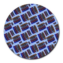 Abstract Pattern Seamless Artwork Round Mousepads by Nexatart