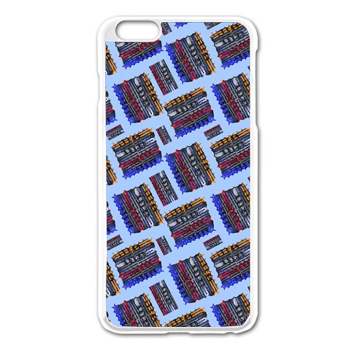 Abstract Pattern Seamless Artwork Apple iPhone 6 Plus/6S Plus Enamel White Case