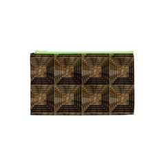 Collage Stone Wall Texture Cosmetic Bag (xs) by Nexatart