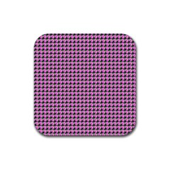 Pattern Grid Background Rubber Square Coaster (4 Pack)  by Nexatart