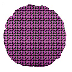 Pattern Grid Background Large 18  Premium Round Cushions