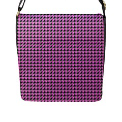 Pattern Grid Background Flap Messenger Bag (l)