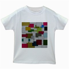 Decor Painting Design Texture Kids White T Shirts by Nexatart