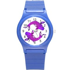 Koi Carp Fish Water Japanese Pond Round Plastic Sport Watch (s) by Nexatart