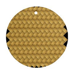 Wood Illustrator Yellow Brown Ornament (round)