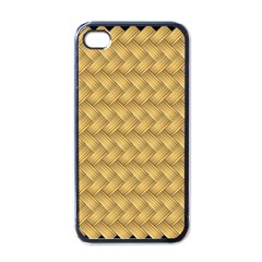 Wood Illustrator Yellow Brown Apple Iphone 4 Case (black)