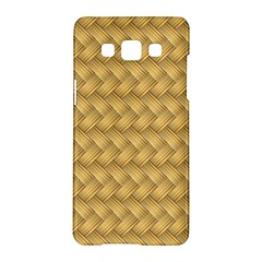 Wood Illustrator Yellow Brown Samsung Galaxy A5 Hardshell Case  by Nexatart