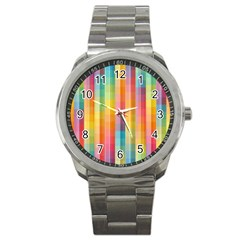 Background Colorful Abstract Sport Metal Watch