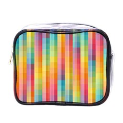 Background Colorful Abstract Mini Toiletries Bags by Nexatart