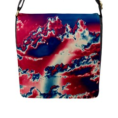 Sky Pattern Flap Messenger Bag (l)