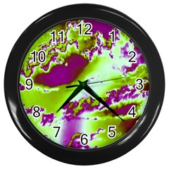 Sky Pattern Wall Clocks (black) by Valentinaart