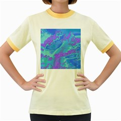 Sky Pattern Women s Fitted Ringer T Shirts