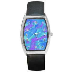 Sky Pattern Barrel Style Metal Watch by Valentinaart