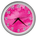 Sky pattern Wall Clocks (Silver)  Front
