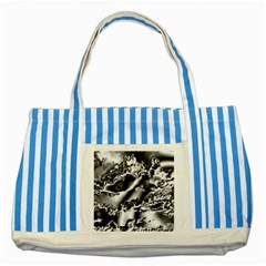Sky Pattern Striped Blue Tote Bag by Valentinaart