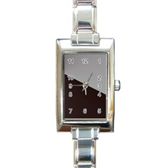 Course Gradient Color Pattern Rectangle Italian Charm Watch