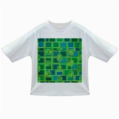 Green Abstract Geometric Infant/toddler T Shirts