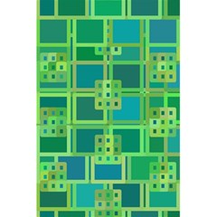 Green Abstract Geometric 5 5  X 8 5  Notebooks by Nexatart