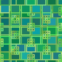 Green Abstract Geometric Magic Photo Cubes by Nexatart