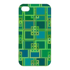 Green Abstract Geometric Apple Iphone 4/4s Premium Hardshell Case