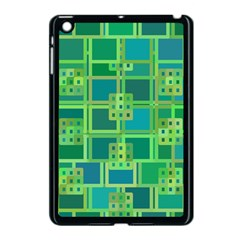 Green Abstract Geometric Apple Ipad Mini Case (black)