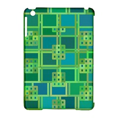 Green Abstract Geometric Apple Ipad Mini Hardshell Case (compatible With Smart Cover) by Nexatart
