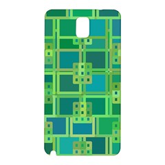 Green Abstract Geometric Samsung Galaxy Note 3 N9005 Hardshell Back Case by Nexatart