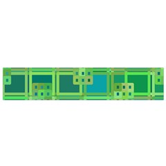 Green Abstract Geometric Flano Scarf (small) by Nexatart