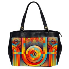 Abstract Pattern Background Office Handbags (2 Sides)