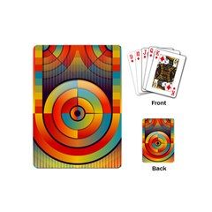 Abstract Pattern Background Playing Cards (mini)  by Nexatart