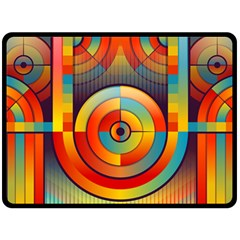 Abstract Pattern Background Double Sided Fleece Blanket (large)  by Nexatart