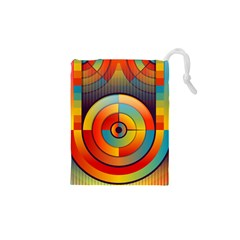 Abstract Pattern Background Drawstring Pouches (xs)  by Nexatart