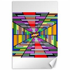Art Vanishing Point Vortex 3d Canvas 24  X 36  by Nexatart