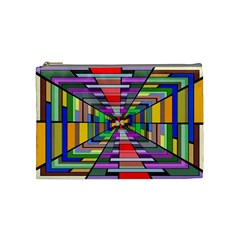 Art Vanishing Point Vortex 3d Cosmetic Bag (medium)