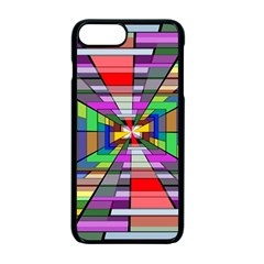 Art Vanishing Point Vortex 3d Apple Iphone 7 Plus Seamless Case (black)