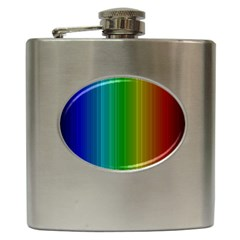 Spectrum Colours Colors Rainbow Hip Flask (6 Oz) by Nexatart